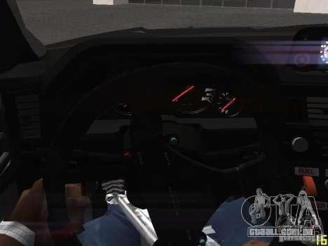 Nissan Skyline GT-R R34 V-Spec para GTA San Andreas vista inferior