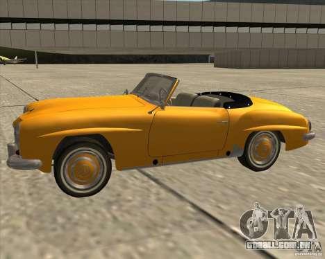 Mercedes Benz 190SL 1960 para GTA San Andreas vista direita
