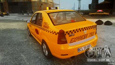 Dacia Logan Facelift Taxi para GTA 4 traseira esquerda vista