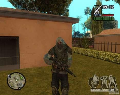 Céu claro perseguidor de para GTA San Andreas