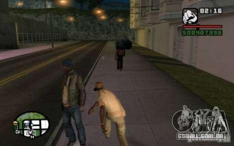Jogue em transeuntes por lixo para GTA San Andreas