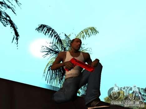 Red Chrome Weapon Pack para GTA San Andreas décimo tela
