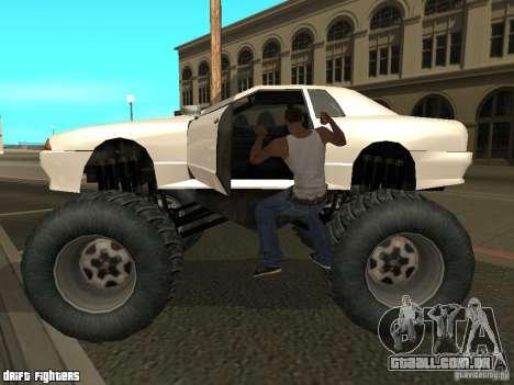 Elegy Monster para GTA San Andreas esquerda vista