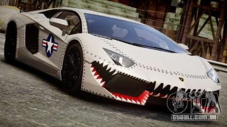 Lamborghini Aventador LP700-4 2012 USAF para GTA 4
