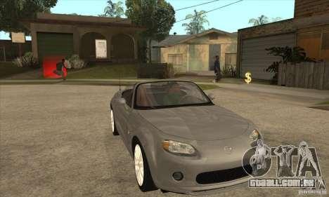 Mazda MX-5 2007 para GTA San Andreas vista traseira