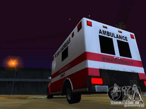 Ambulance 1987 San Andreas para vista lateral GTA San Andreas