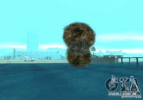 Novos efeitos de explosões para GTA San Andreas décimo tela
