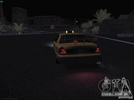 Ford Crown Victoria Taxi 2003 para GTA San Andreas vista inferior