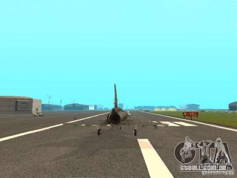 Saab JA-37 Viggen para GTA San Andreas vista traseira