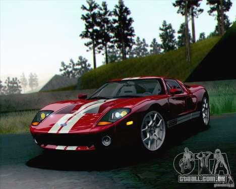 Ford GT 2005 para GTA San Andreas traseira esquerda vista
