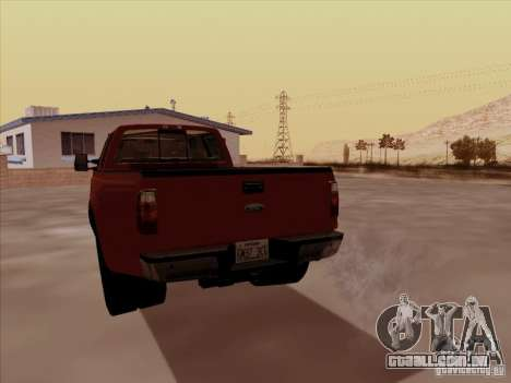 Ford  F350 Super Duty para GTA San Andreas vista direita
