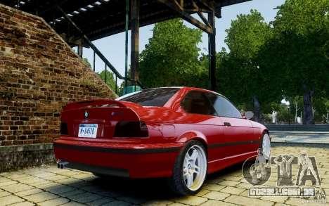 BMW M3 E36 v1.0 para GTA 4 vista de volta