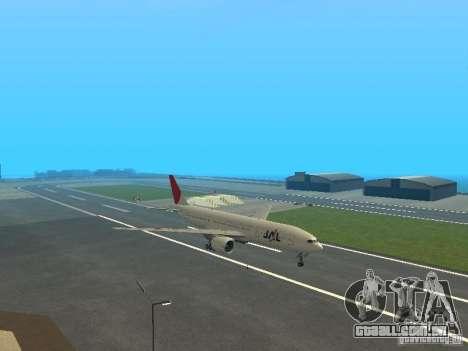 Boeing 777-200 Japan Airlines para GTA San Andreas traseira esquerda vista