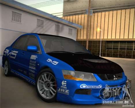 Mitsubishi Lancer Evolution IX Tunable para as rodas de GTA San Andreas