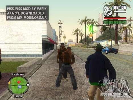 Piss Piss mod para GTA San Andreas segunda tela