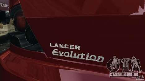 Mitsubishi Lancer Evolution 8 para GTA 4 vista lateral