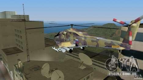 Mi-24 HindB para GTA Vice City deixou vista