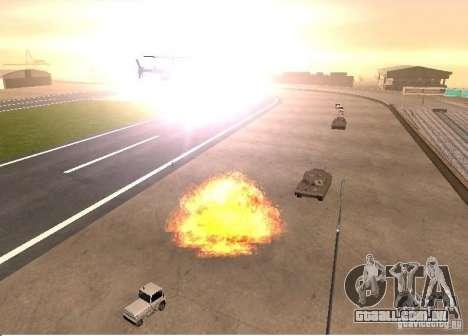 Novos efeitos de explosões para GTA San Andreas por diante tela