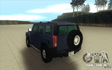 Hummer H3 para vista lateral GTA San Andreas