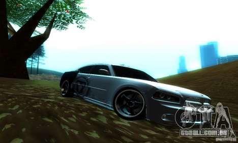 Dodge Charger SRT8 Mopar para GTA San Andreas traseira esquerda vista