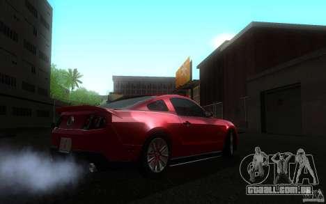 Ford Mustang GT V6 2011 para GTA San Andreas traseira esquerda vista
