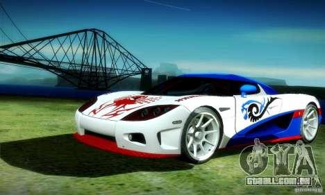 Koenigsegg CCX para GTA San Andreas vista traseira