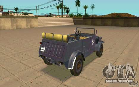 Kuebelwagen v2.0 normal para GTA San Andreas traseira esquerda vista