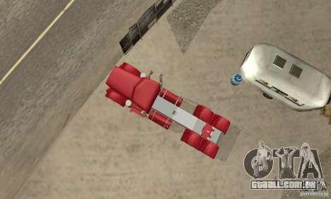 Peterbilt Coupe para GTA San Andreas vista traseira