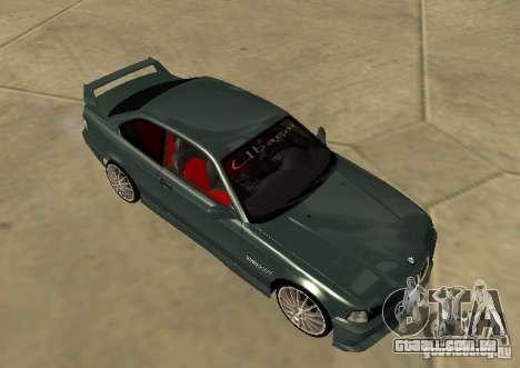 BMW E36 Coupe para GTA San Andreas traseira esquerda vista