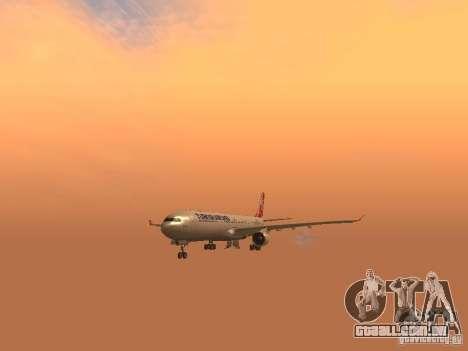 Airbus A330-300 Turkish Airlines para GTA San Andreas vista interior