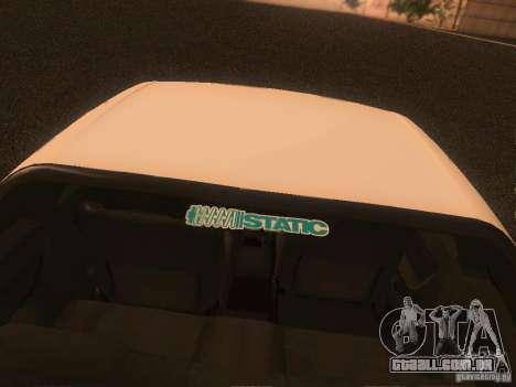 Nissan Skyline GTS R32 JDM para GTA San Andreas vista interior
