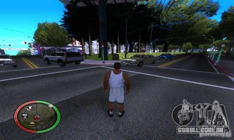 NEW STREET SF MOD para GTA San Andreas por diante tela