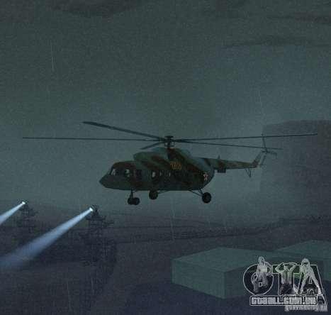 MI-17 militares para GTA San Andreas esquerda vista