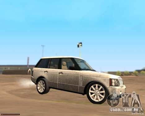 Land Rover Range Rover Supercharged 2008 para GTA San Andreas esquerda vista
