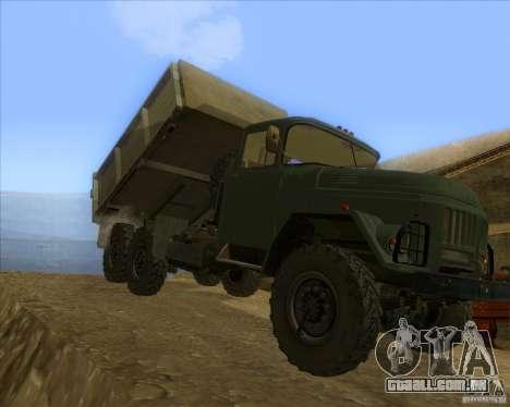 ZIL 131 caminhão para GTA San Andreas esquerda vista