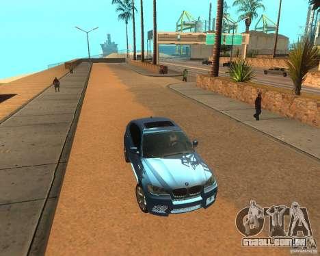 BMW Motorsport X6 M v. 2.0 para GTA San Andreas esquerda vista