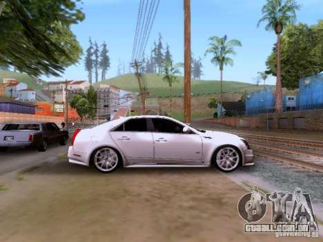 Cadillac CTS-V 2009 para GTA San Andreas vista interior