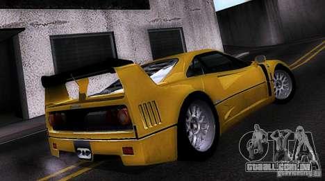 Ferrari F40 GTE LM para GTA San Andreas esquerda vista