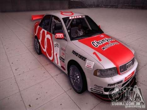 Audi S4 Galati Race para GTA San Andreas vista traseira