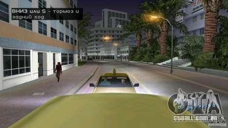 Passageiro de equitação para GTA Vice City por diante tela
