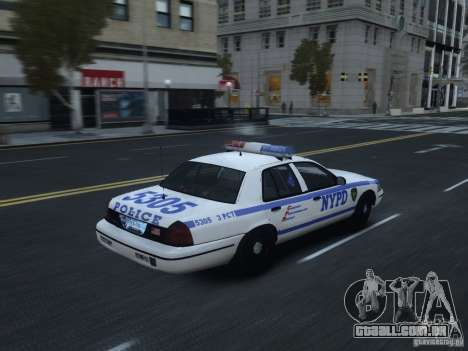 Ford Crown Victoria NYPD 2012 para GTA 4 vista direita