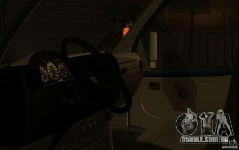 Gazela 33023 para GTA San Andreas vista traseira