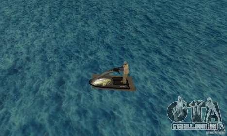 Scooter de água para GTA San Andreas esquerda vista