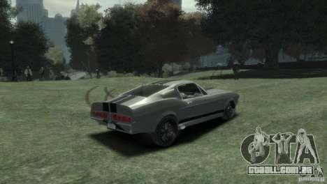 Ford Shelby GT500 Eleanor para GTA 4 traseira esquerda vista