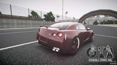 Nissan GT-R R35 2010 para GTA 4 vista lateral
