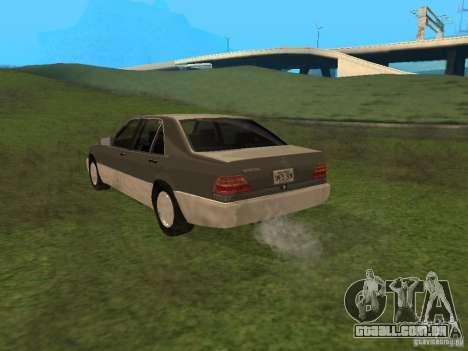 Mercedes-Benz 600SEL W140 para GTA San Andreas traseira esquerda vista