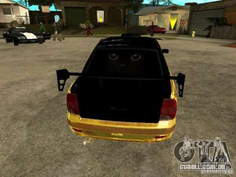 Lada 2170 Priora GOLD para GTA San Andreas vista interior
