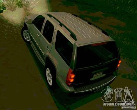 GMC Yukon Denali 2007 para GTA San Andreas traseira esquerda vista