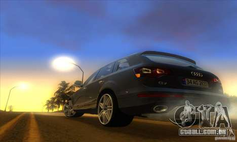 ENB Graphics by KINOman para GTA San Andreas por diante tela