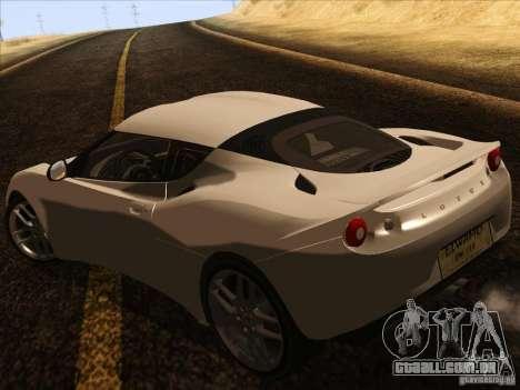 Lotus Evora para GTA San Andreas vista direita